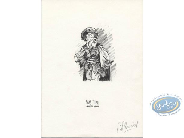 Ex-libris Offset, Mur de Pan (Le) : Jeune homme