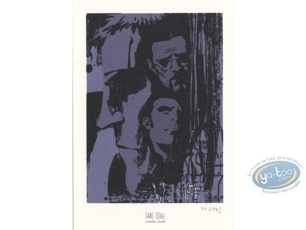 Ex-libris Sérigraphie, 7 Secondes : Visages