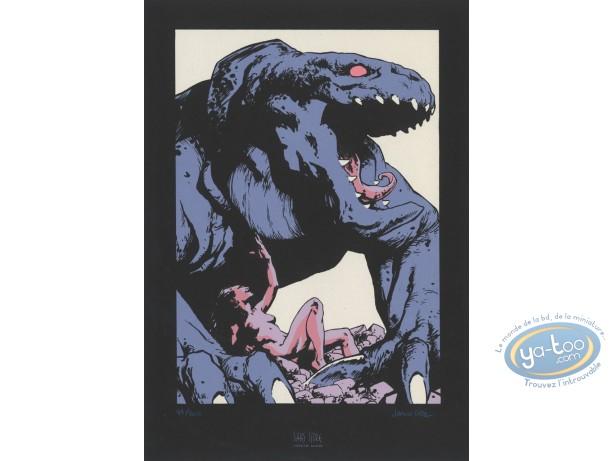 Ex-libris Sérigraphie, Terres d'Ombre : Lézard géant
