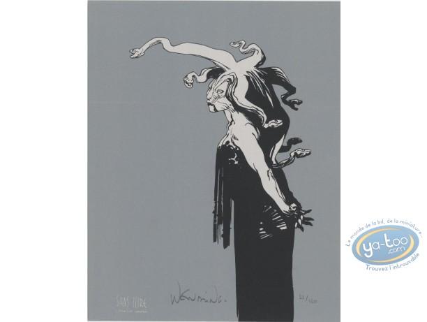 Ex-libris Sérigraphie, Femme Serpent