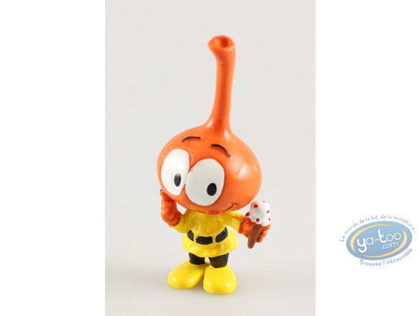 Figurine plastique, Snorkies (Les) : Jojo' Snorkie orange, mange une glace
