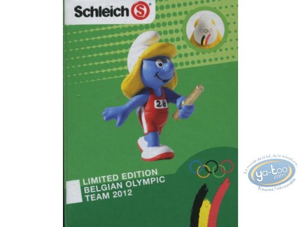 Figurine plastique, Schtroumpfs (Les) : Schtroumpfette relais - Edition Belge