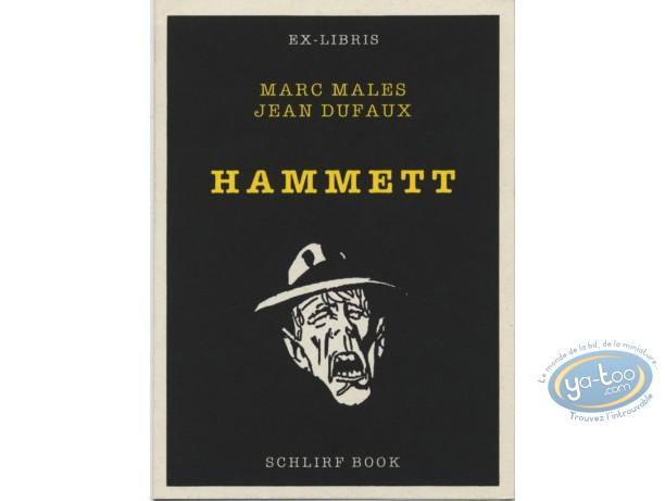 Ex-libris Sérigraphie, Hammett : Malès, Hammett