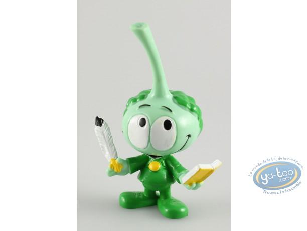 Figurine plastique, Snorkies (Les) : Harpo' Snorkie vert écrivain.