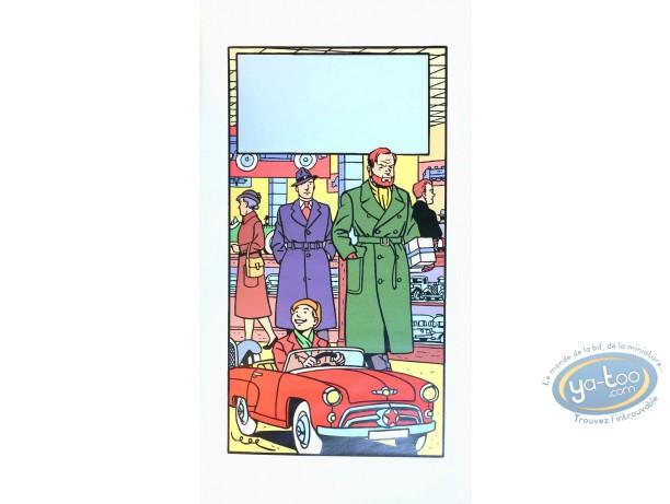 Affiche Sérigraphie, Blake et Mortimer : Le magasin de jouets (sans texte)