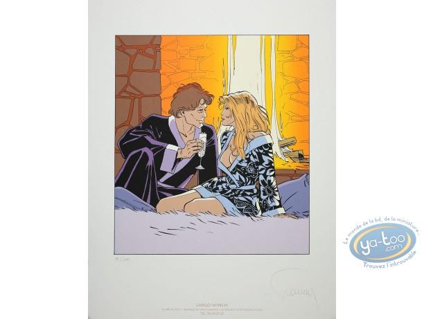 Affiche Sérigraphie, Largo Winch : Champagne
