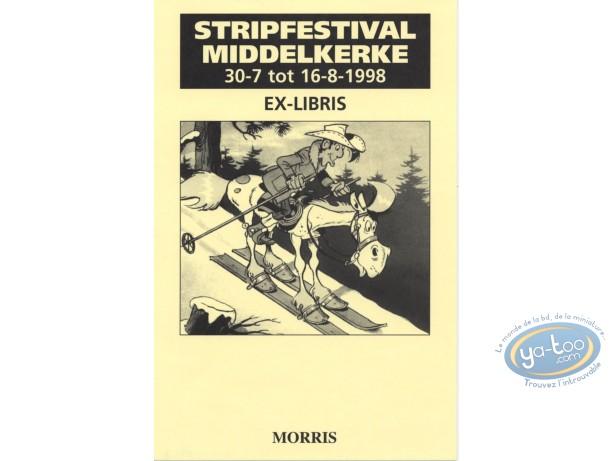 Ex-libris Offset, Lucky Luke : Lucky Luke à ski