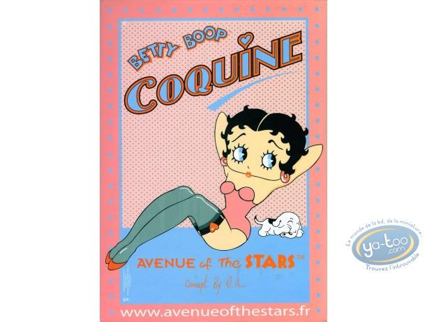 Déco, Betty Boop : Pancarte déco : Betty Boop 'Coquine'