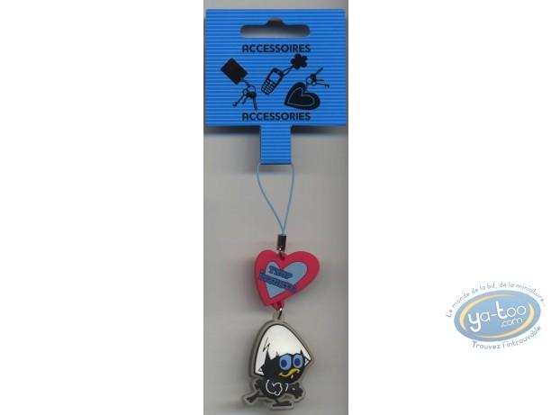 Figurine plastique, Caliméro : Pendentif PVC pour portable, Caliméro