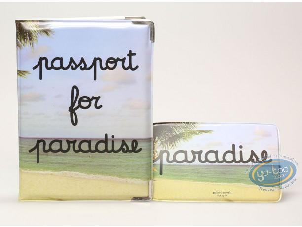 Bagagerie, Protège passeport + porte etiquette de bagage : Passeport for paradise