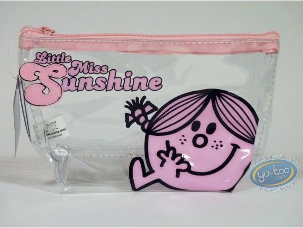 Bagagerie, Monsieur et Madame : Trousse vinyle, Little Miss Sunshine (rose/transparente)