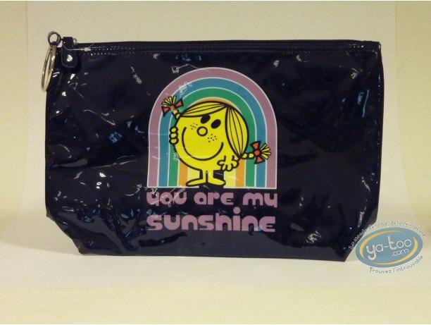 Bagagerie, Monsieur et Madame : Grande trousse vinyle noire, Little Miss Sunshine : You are…