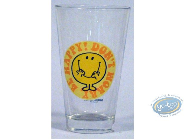 Art de la Table, Monsieur et Madame : Verre conique, Mr Happy (jaune)