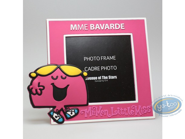 Cadre photo, Monsieur et Madame : Mme Bavarde Rose