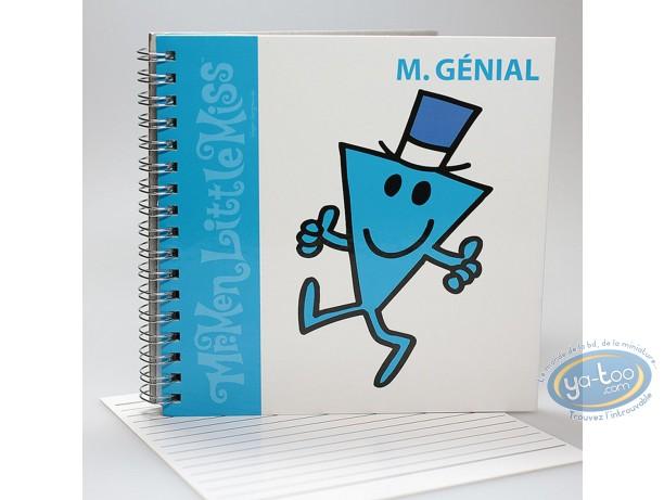 Carnet de notes, Monsieur et Madame : Carnet Spirales,  Mr Genial : Bleu