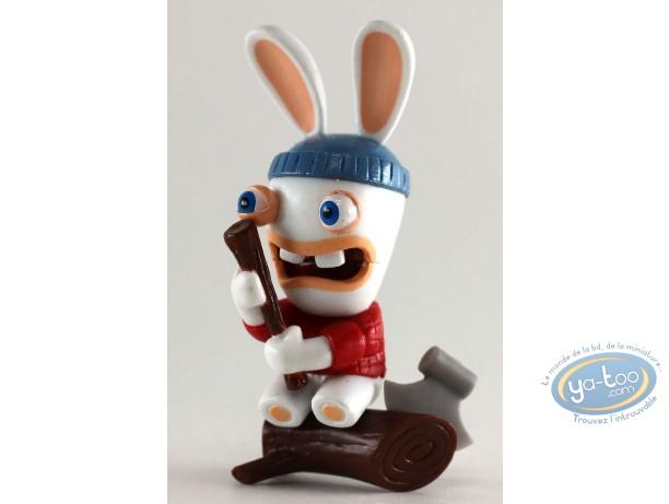 Figurine plastique, Lapins Crétins (Les) : Les Lapins Crétins autour du Monde :  Canada (bucheron)