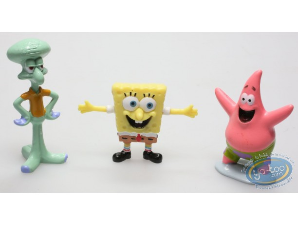 Figurine plastique, Bob l'Eponge : Assortiment de 3 figurines Bob l'Eponge