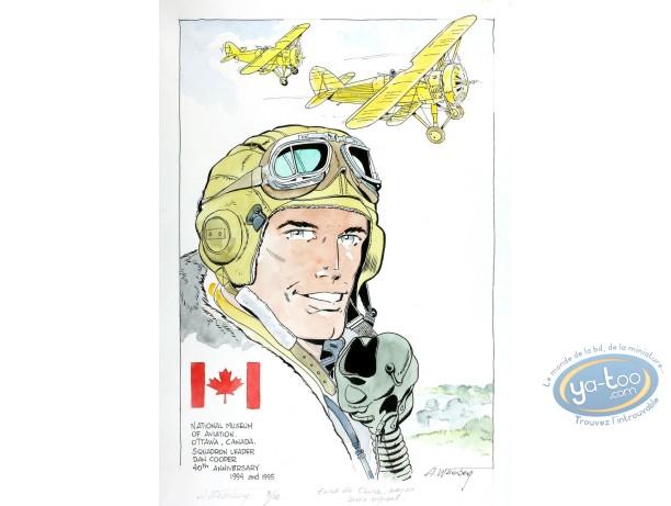 Aquarelle, Dan Cooper : Dan Cooper et Avions Jaunes