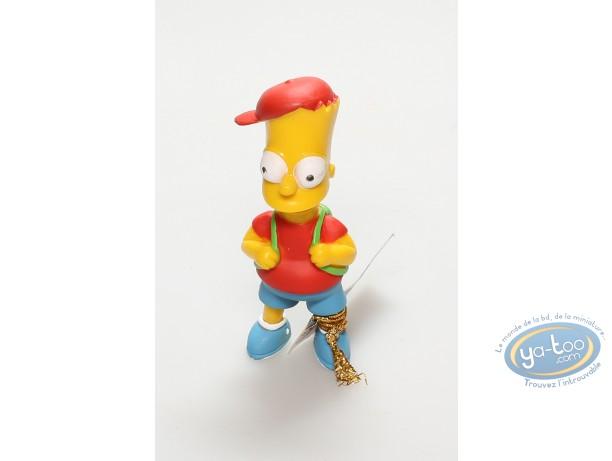 Figurine plastique, Simpson (Les) : Bart Simpson et son cartable