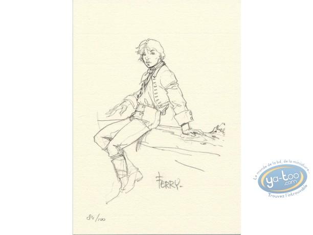 Ex-libris Offset, Chroniques de Panchrysia (Les) : Jeune homme assis sur une branche