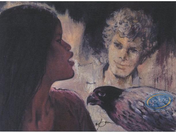 Ex-libris Offset, Shelena : Shelena, garçon et oiseau