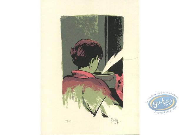 Ex-libris Sérigraphie, Saison des Anguilles (La) : Café