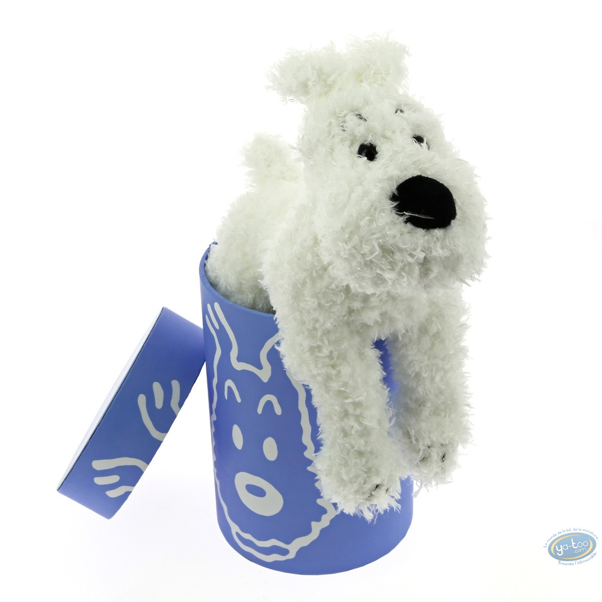 Peluche, Tintin : Milou - 20cm - boite lavande