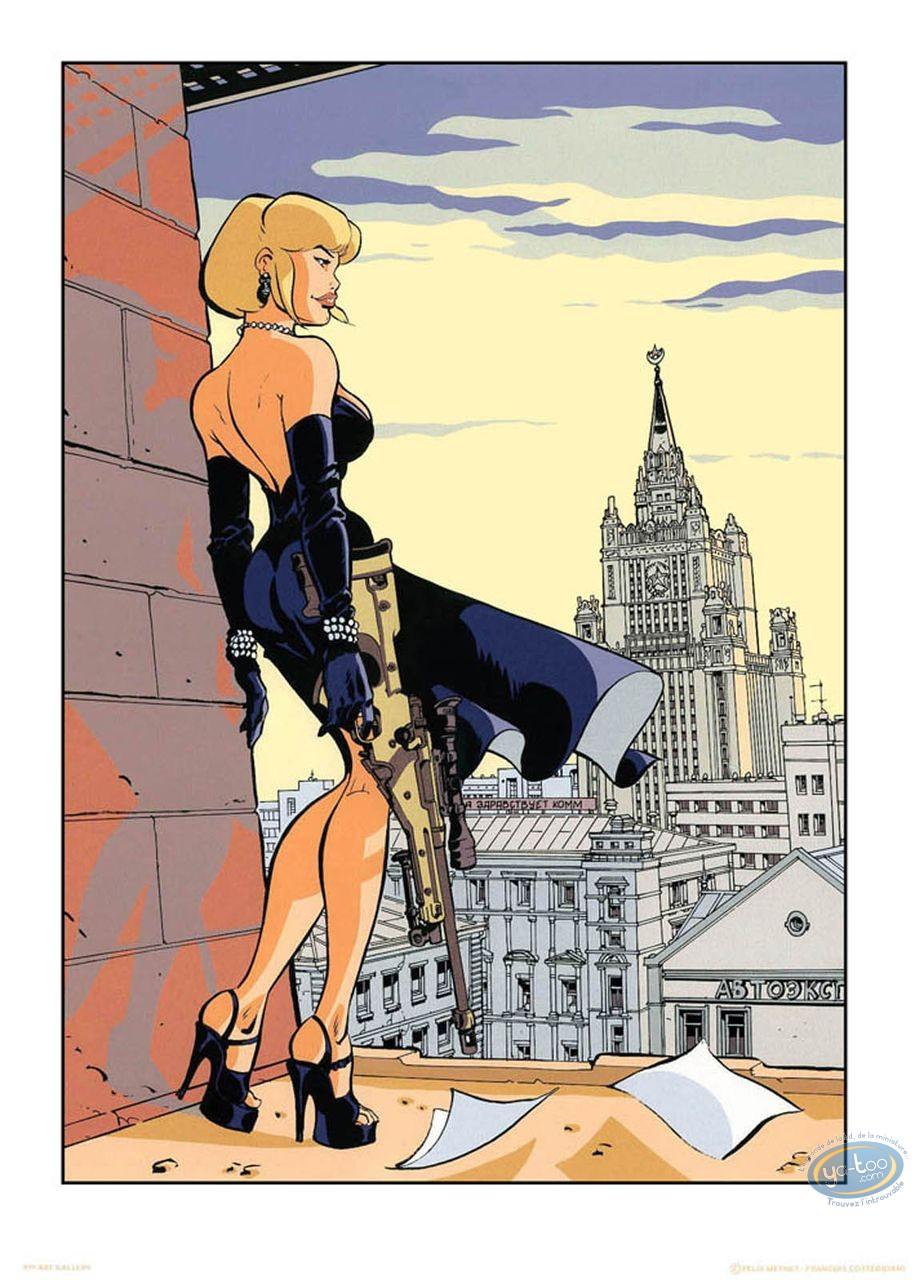 Affiche Sérigraphie, Tatiana K : Les toits de Moscou