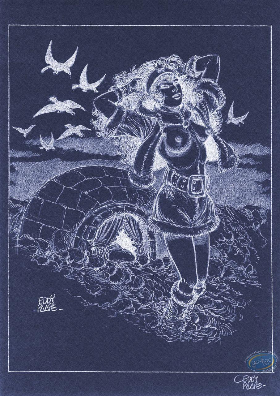 Affiche Offset, Luc Orient : Laura igloo (négatif)