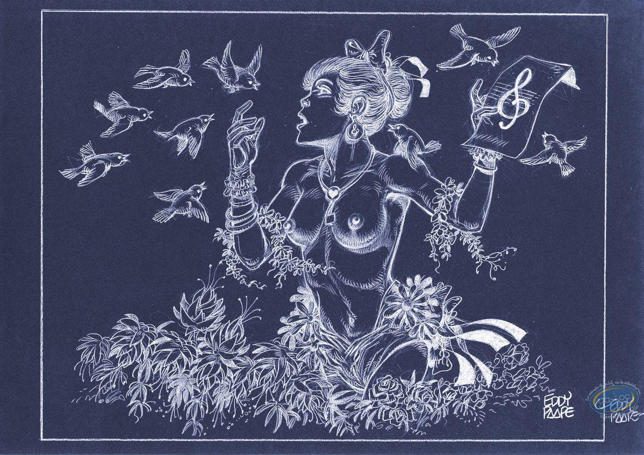 Affiche Offset, Luc Orient : Laura chant (négatif)