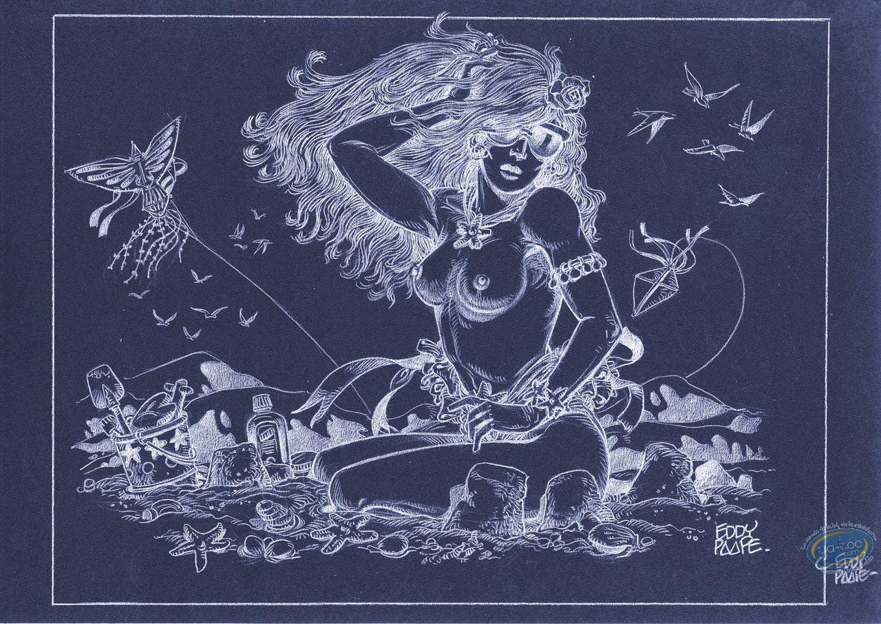 Affiche Offset, Luc Orient : Laura plage (négatif)
