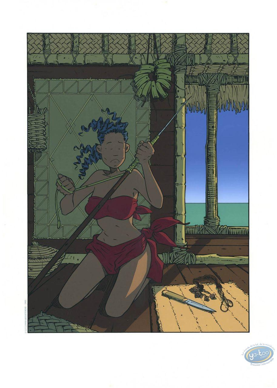 Affiche Sérigraphie, Adler : Jumelle à la lance
