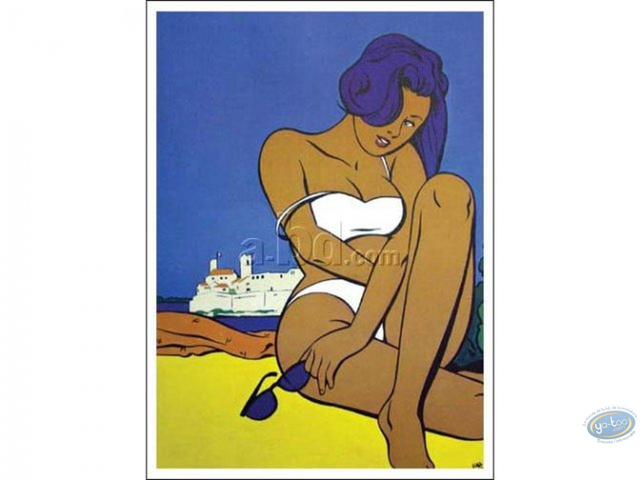 Affiche Offset, Femme à Antibes