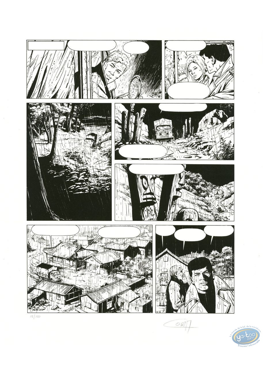 Affiche Sérigraphie, Bob Morane : Planche