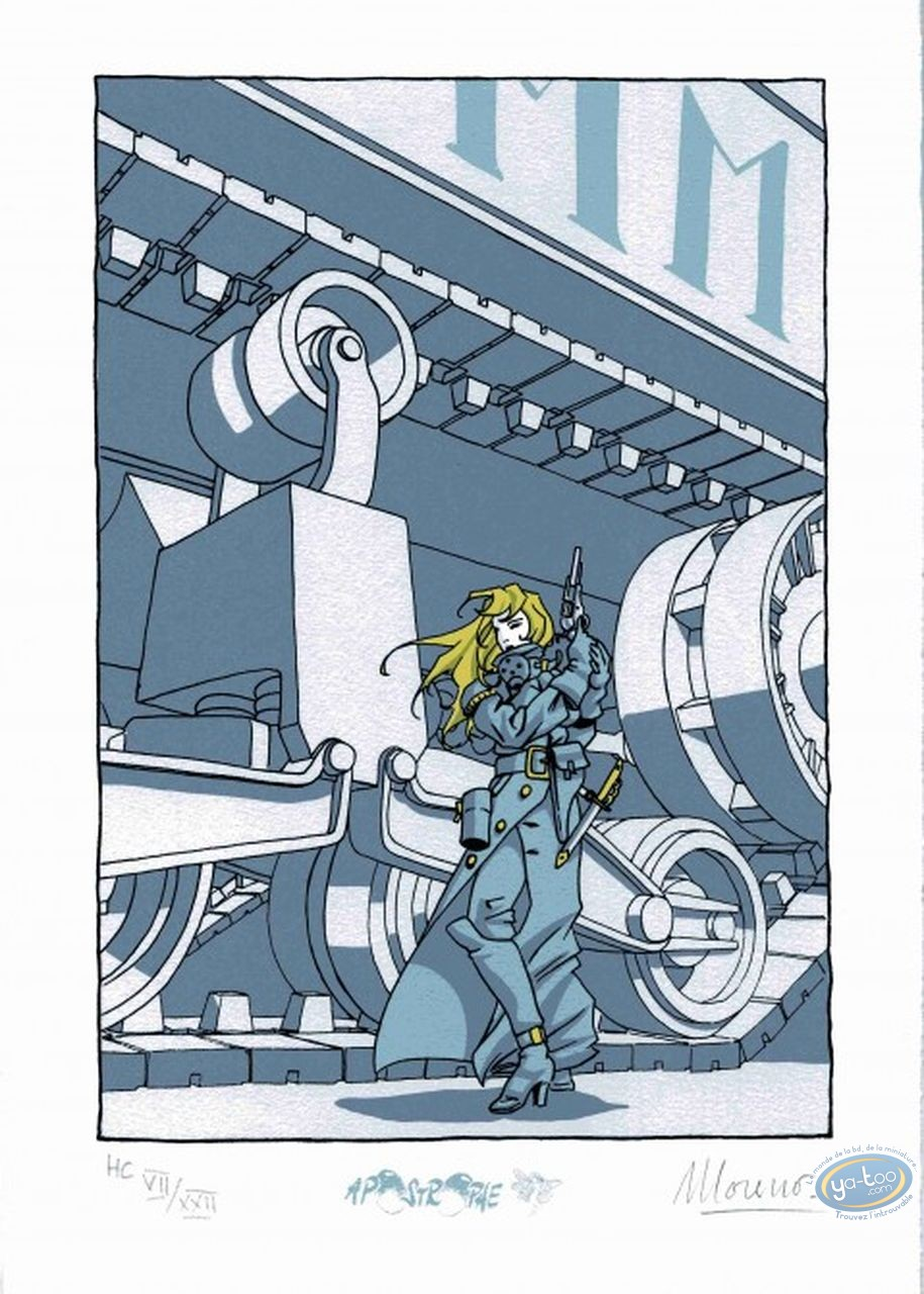 Ex-libris Sérigraphie, Régulateur (Le) : Hestia devant le char