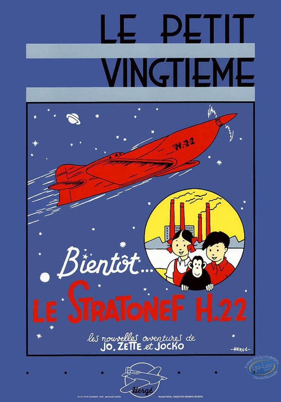 Affiche Sérigraphie, Jo et Zette : Stratoneff