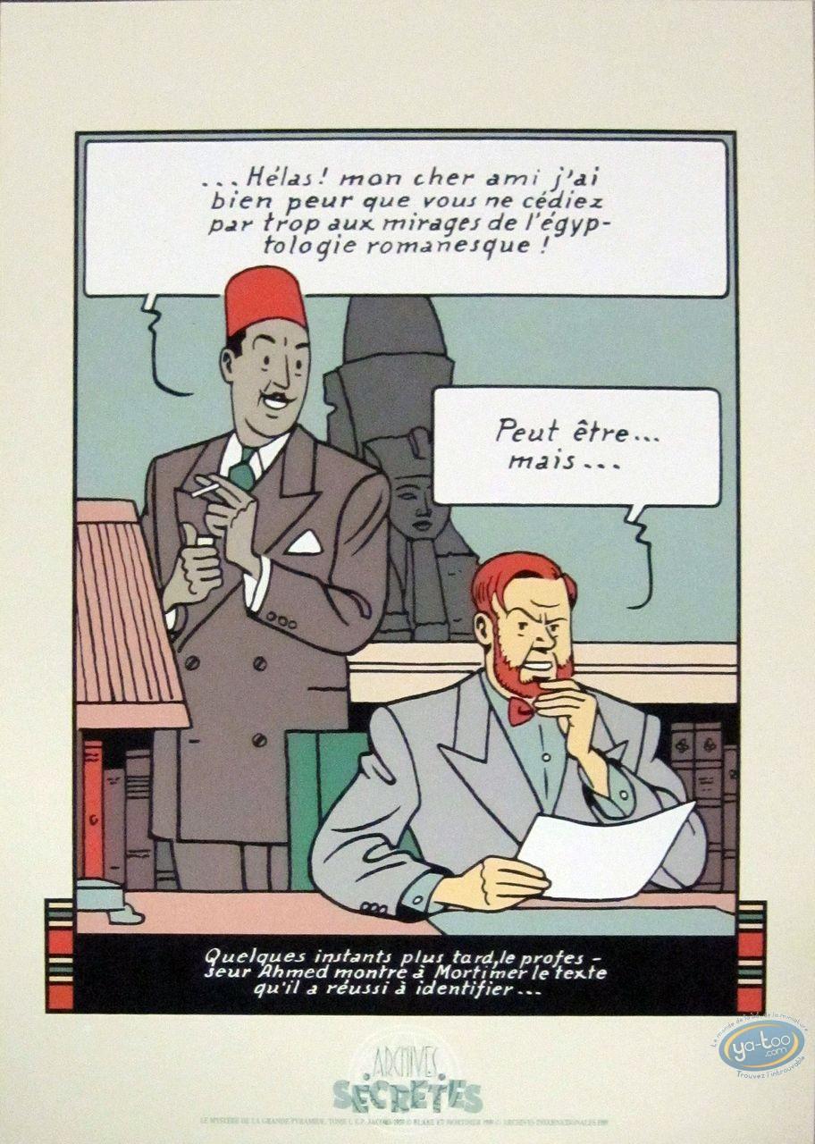 Affiche Sérigraphie, Blake et Mortimer : Colonel Olrik