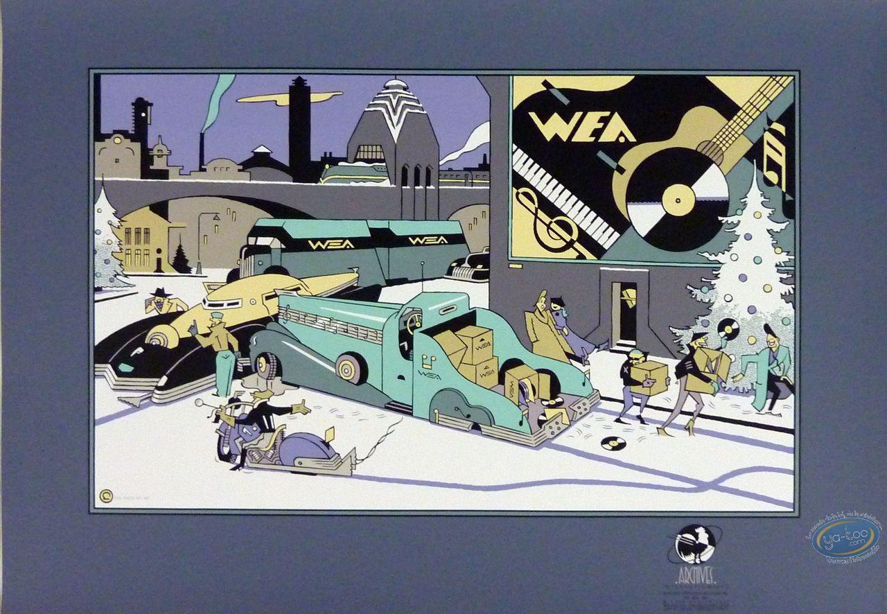 Affiche Sérigraphie, Wea (bleue)