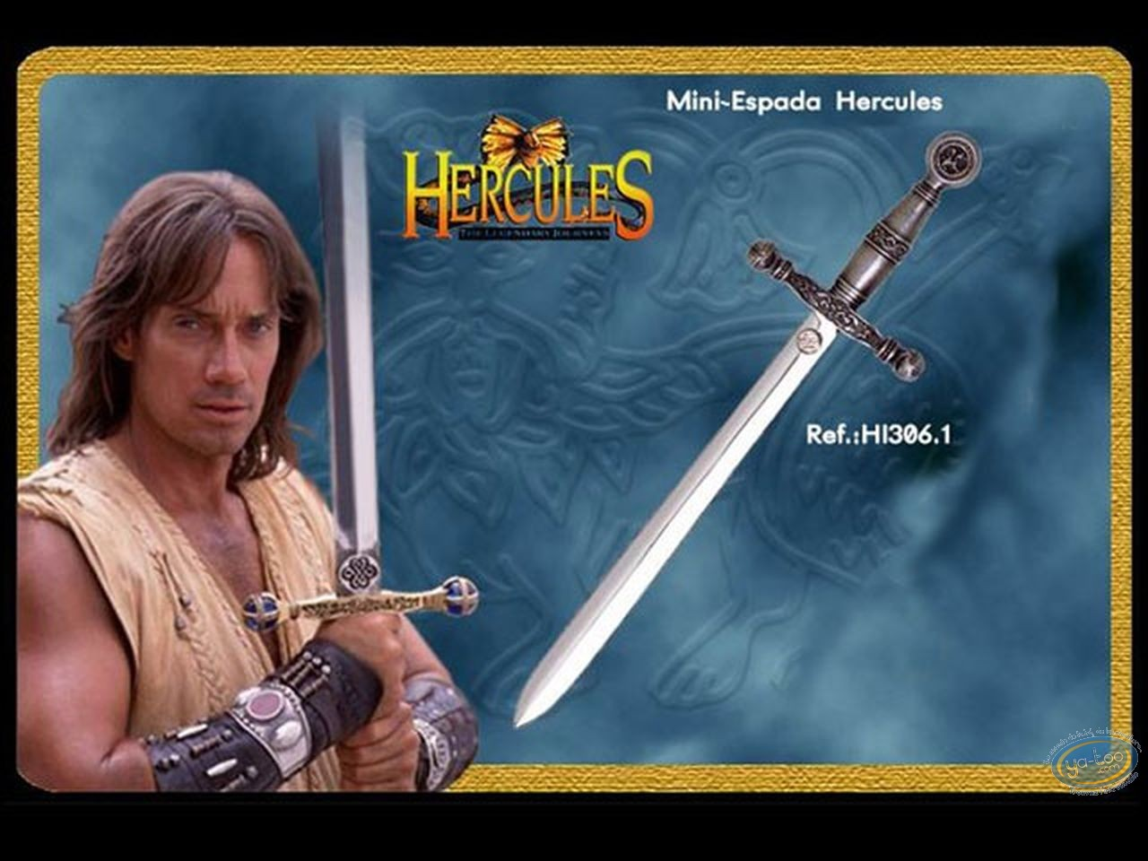 Figurine métal, Hercules : Mini épée version argentée
