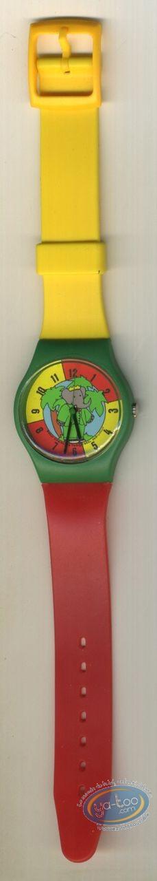 Horlogerie, Babar : Montre enfant, Babar bracelet plastique