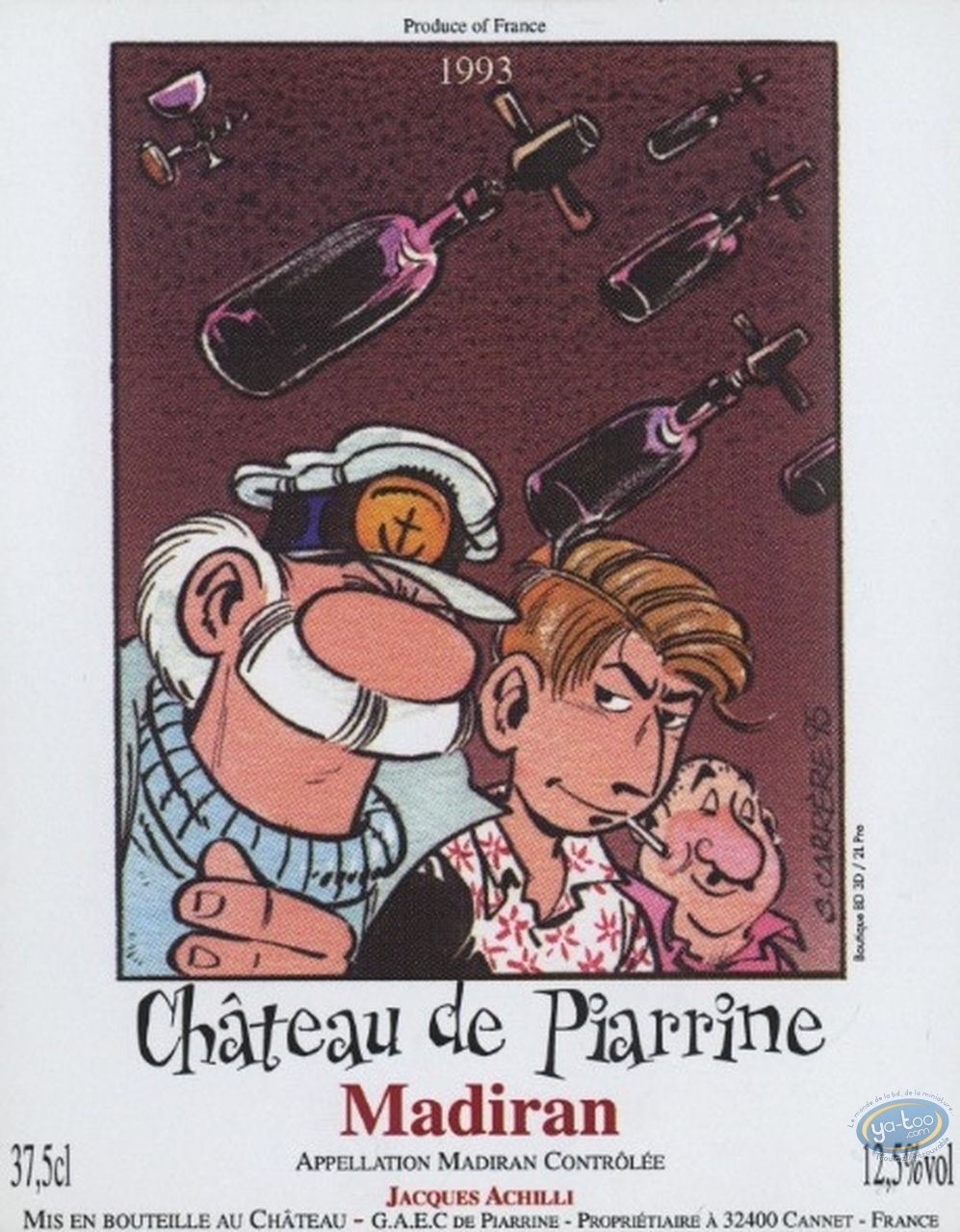 Etiquette de Vin, Léo Loden : Léo Loden - Chateau de Piarrine 1993 (37,5cl)