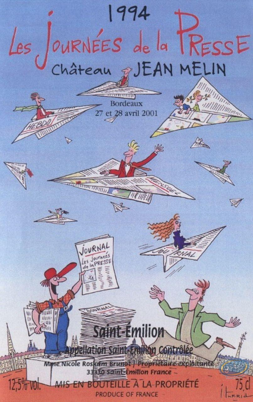 Etiquette de Vin, Journées de la presse - Chateau Jean Melin 1994
