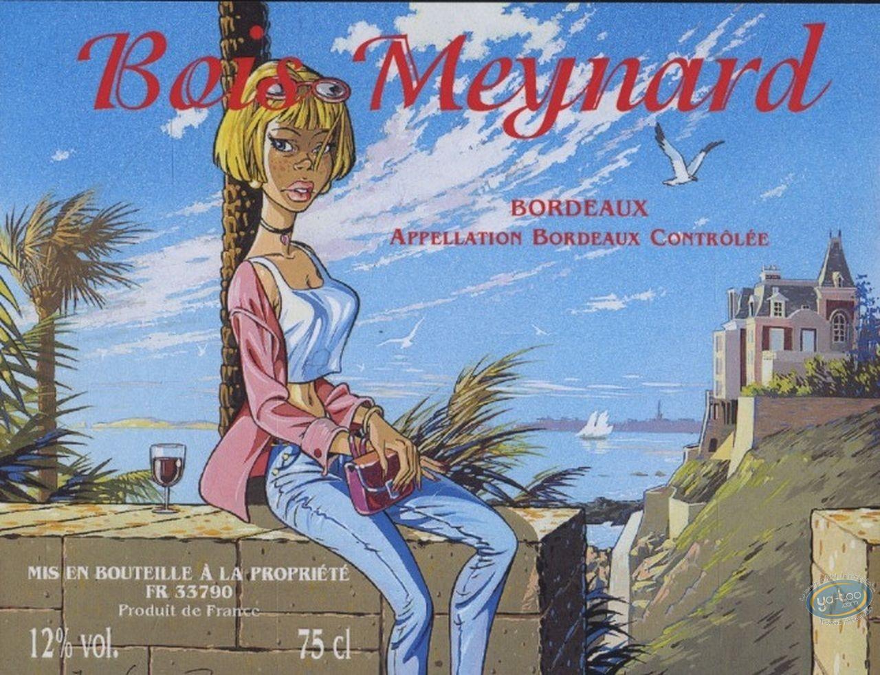 Etiquette de Vin, Pin-Up : Bord de mer - Bois Meynard