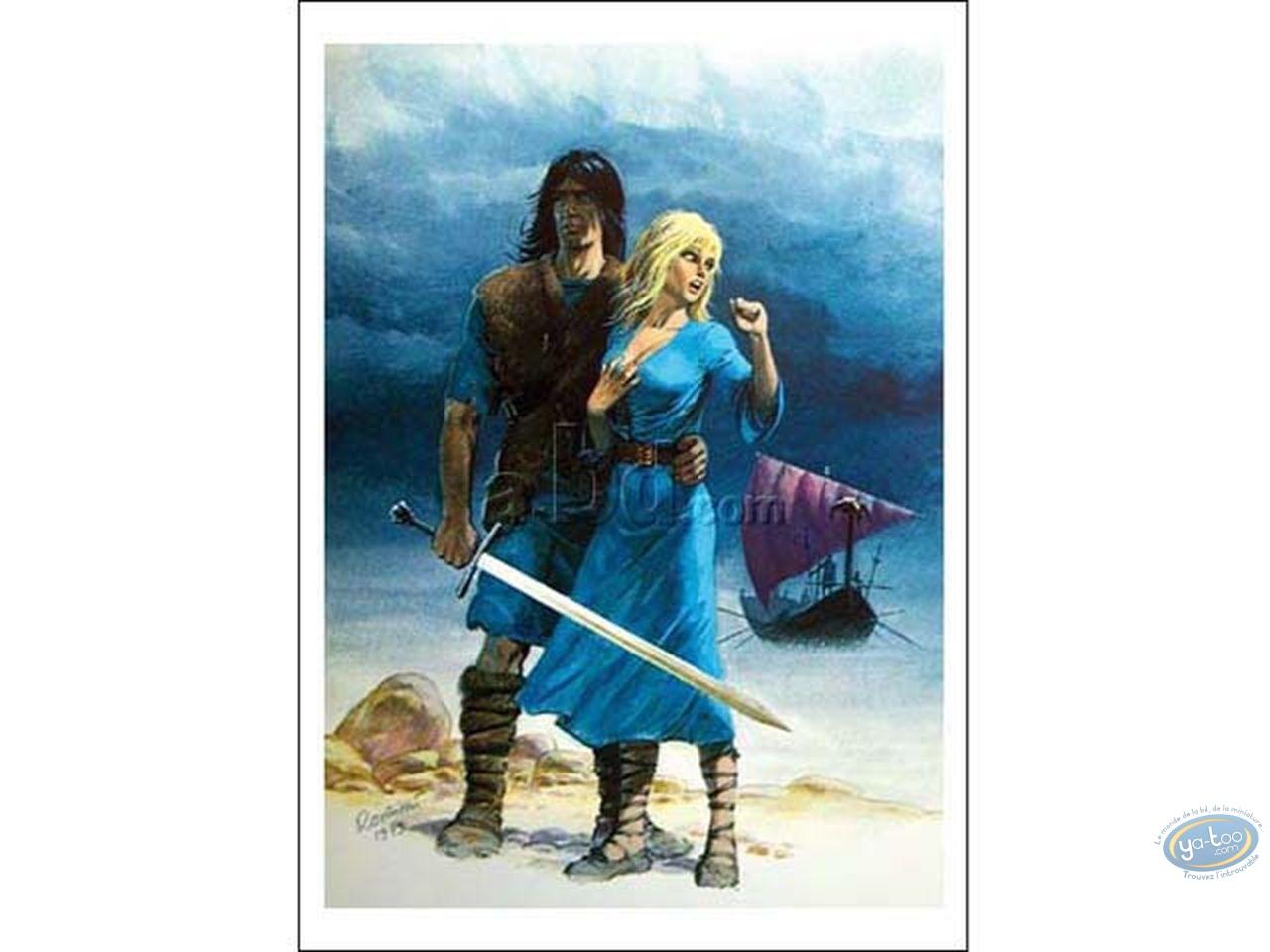 Affiche Offset, Thorgal : Thorgal et Aaricia