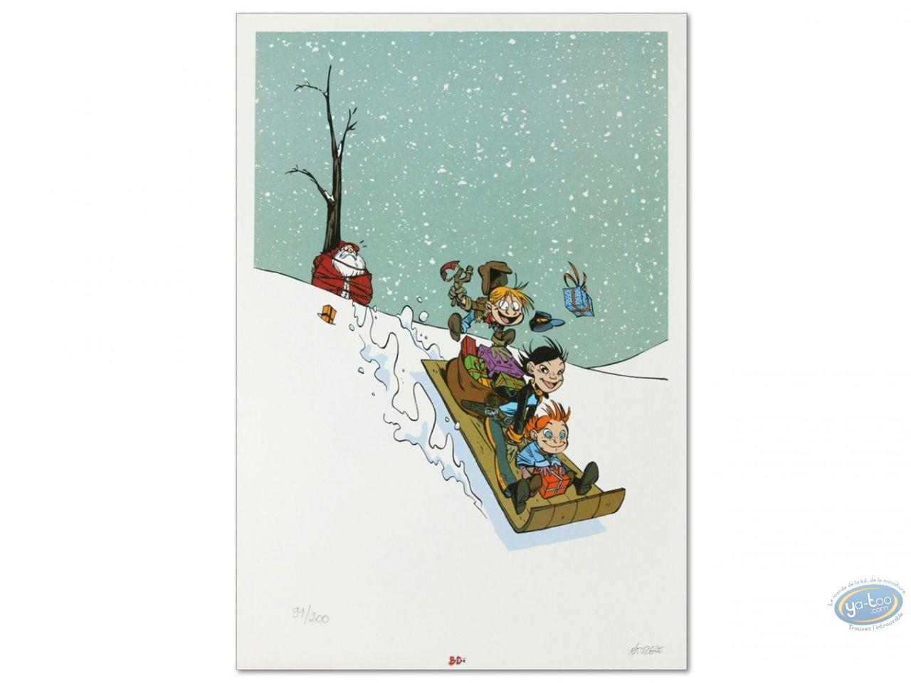 Affiche Offset, Affiche Pépère Noël par Léturgie