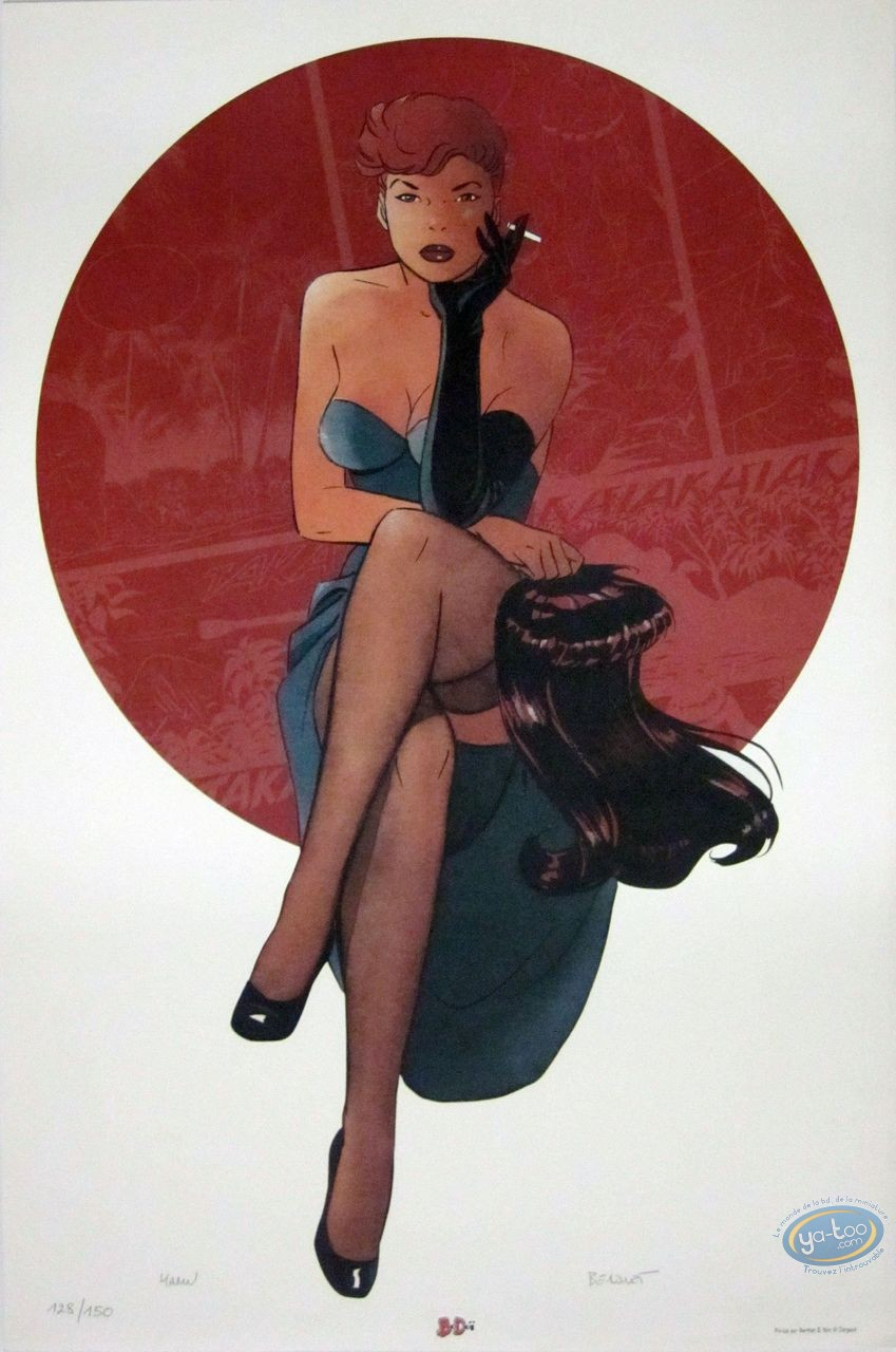 Affiche Offset, Pin-Up : Dottie fumant