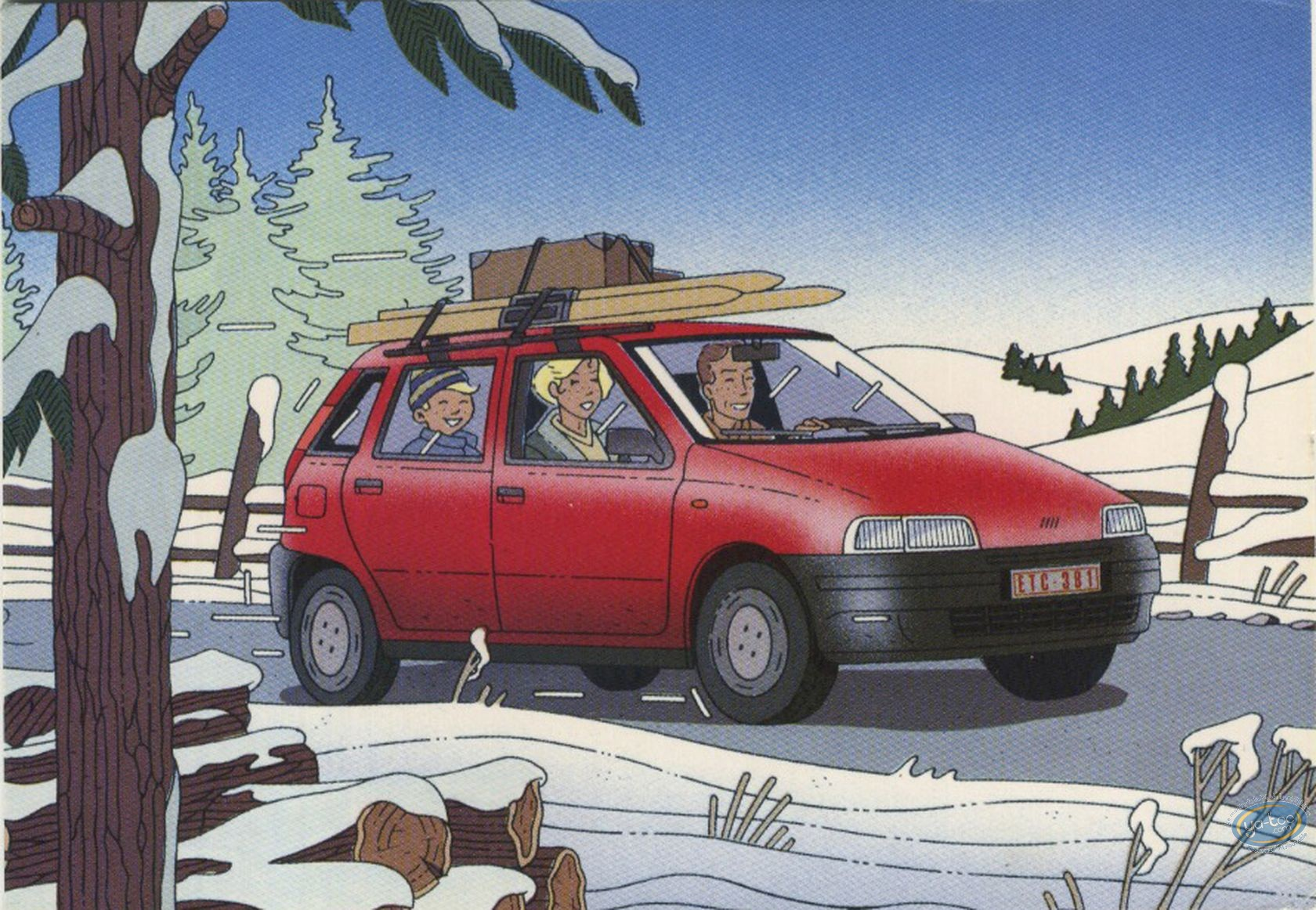 Carte postale  Carte publicitaire Diverse artikelen Fiat Punto par Goffin Boeken, strips, tijdschriften
