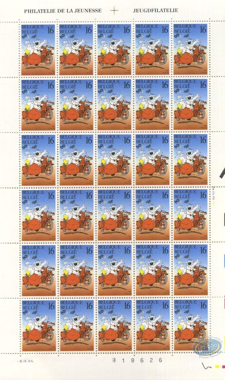 Timbre, Cubitus : Planche de 30 timbres