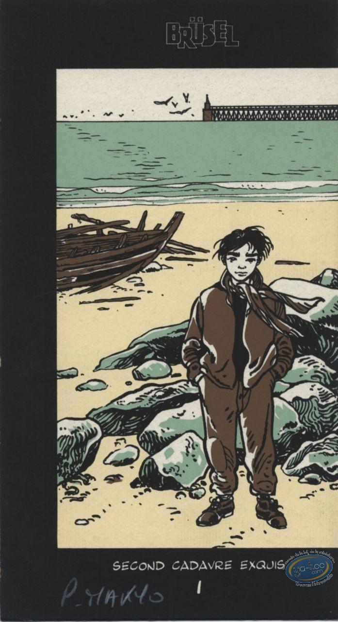 Ex-libris Sérigraphie, Coeur en Islande (Le) : Moïse sur la plage