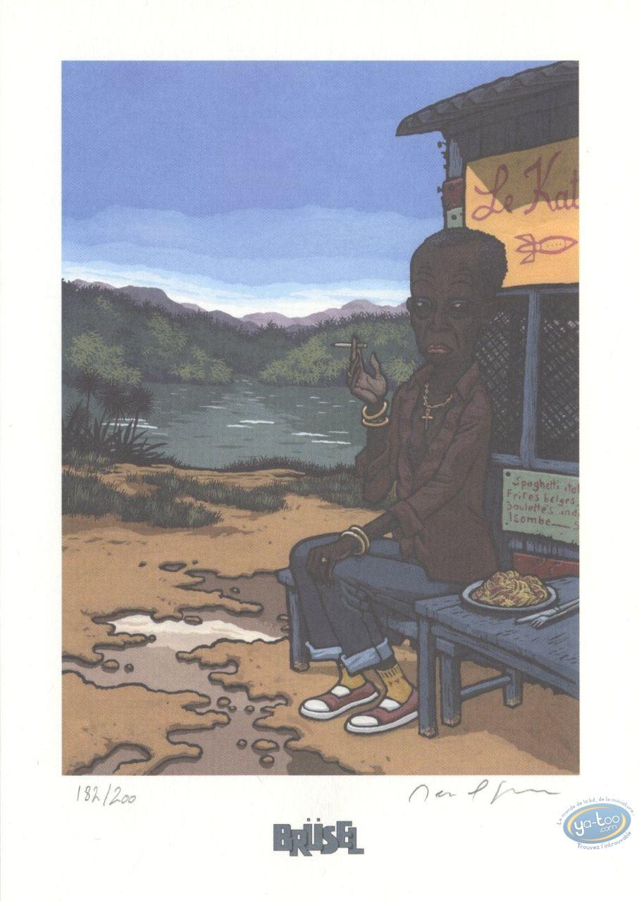 Ex-libris Offset, Deogratias : Homme fumant